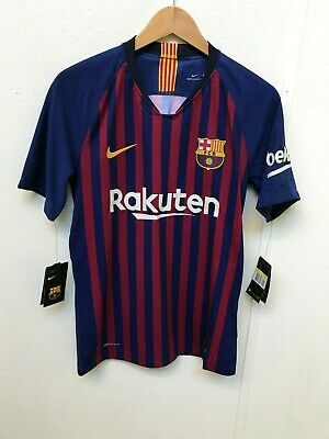89c39013a45 BARCELONA MEN S NIKE 18 19 VaporKnit Home Shirt - S - Messi 10 -New ...