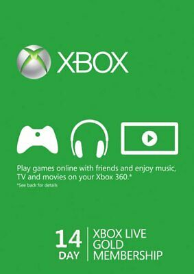 Xbox Live Gold 14 Days Trial Membership-Fast Dispatch