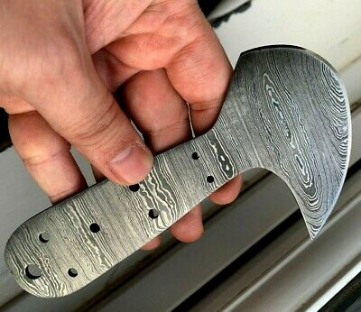 Handmade Skiving tool- Damascus Steel Blade Blank-Leather Cutter Blank-LB50