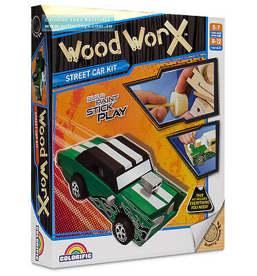 Wood Worx Street Car Kit - IDEAL KIDS GIFT!!