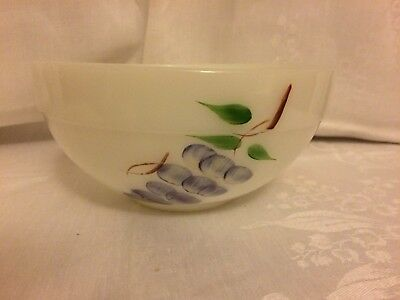 Vintage Fire King Gay Fad Mixing Bowl Hand Painted