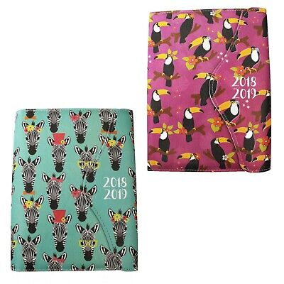 2018-2019 - Academic Day a Page Diary/Organiser - PU Cover - A6 - Choose Design