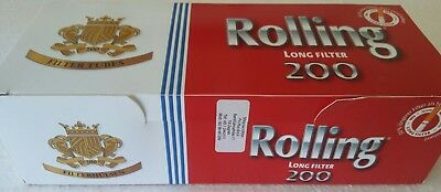 200x Rolling Long Filter 1 inch Empty Tobacco Cigarette Filter Tubes King Size