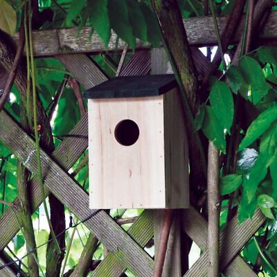 New Traditional Small Bird Nesting Boxes Sparrows Blue Tits Wooden Garden Nest
