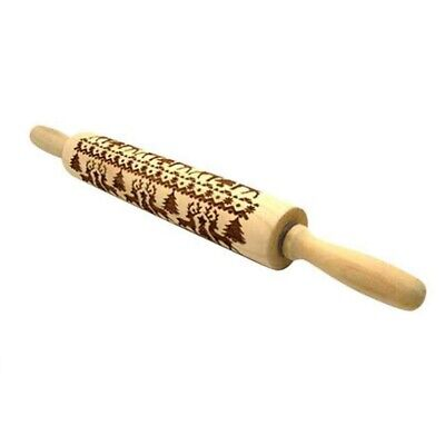 Rolling Pins with Christmas Deer Pattern for Baking Cookies In  Kitchen Tool