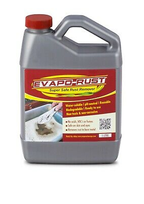 Genuine Evapo-Rust 1L Rust Remover Biodegradable Reusable pH Neutral