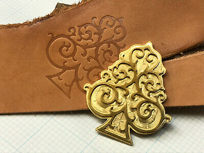 SEA SPADE Leather Bookbinding Finishing tool Stamp EMBOSSING die ST7
