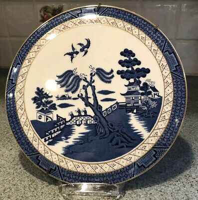 RARE VINTAGE BOOTHS REAL OLD WILLOW BLUE ROYAL DOULTON Made England WALL Plate