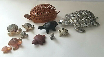Vintage Turtle Tortoise Lot of 11 Mixed materials