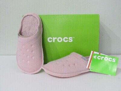 ad50b2dc8a0f Crocs Indoor Outdoor Classic Womens Pink Roomy Fit Scuffs Slippers size 5