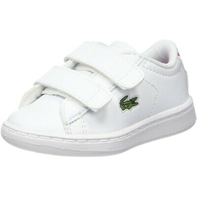 Lacoste Carnaby Evo BL 1 White/Pink Synthetic Baby Trainers Shoes