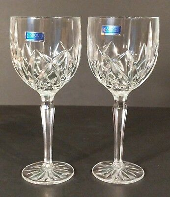 MARQUIS By Waterford Crystal (2) New Wine Glasses w Tags ~ Germany ~ Ships FREE