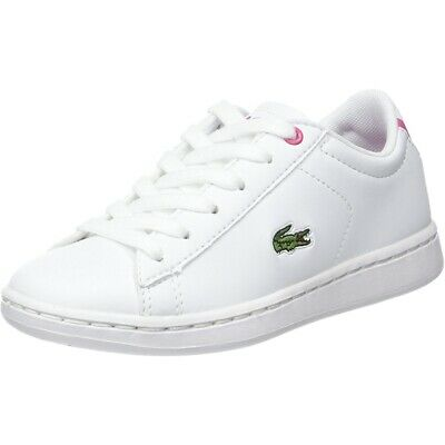 3f5dc82e40 LACOSTE CARNABY EVO 417 1 White/Pink Synthetic Infant Trainers ...