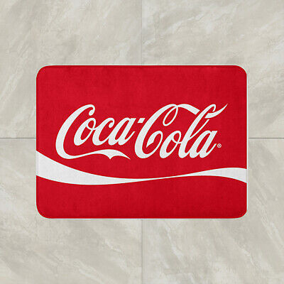 Coke Coca Cola Floor Carpet Mat Door Home House Natural Cotton Soft Drink pop