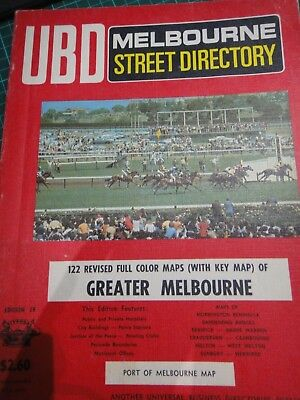 Old vintage UBD Melbourne and Surrounds street directory 19TH EDITION RARE book
