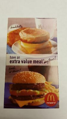5 Mcdonald's - Extra Value Meal - Gold Shiny Foil Symbol - Expires: 12-31-2019