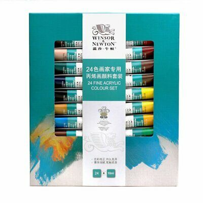 Winsor&Newton Professional 24 Colors Artist Fine Acrylic Paint 10ml Tube Drawing