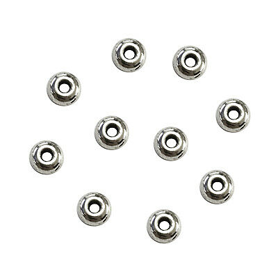 10pcs Stainless Steel Metal Beads Crafting Jewelry Making 4mm Spacers Pack/Lot