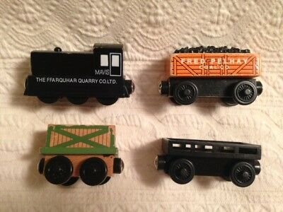 A2 Thomas Friends Wooden Railway Mavisfred Pelhay Coal2 Cargo Cars