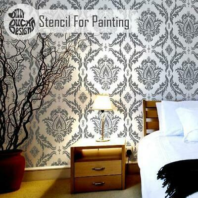 ANKARA Damask Furniture Wall Floor Stencils for Painting