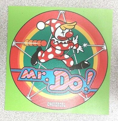 Mr. Do cabinet art sticker. 4 x 4. (Buy any 3 of my stickers, GET ONE FREE!)