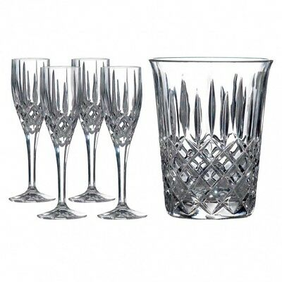 ROYAL DOULTON Champagne Bucket and 4 Champagne Flutes BRAND NEW  RRP £125