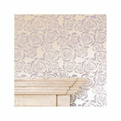 ROSES Nursery Girls Bedroom Wall Furniture Floor Stencil for Paint