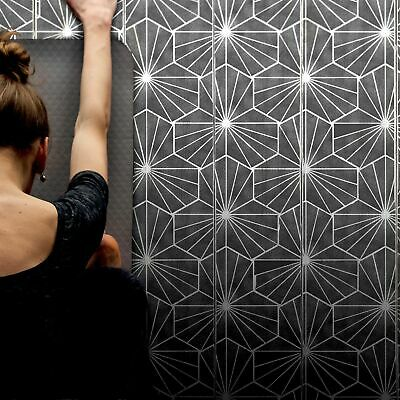 YASUGI Tile Stencil - Geometric Floor Stencil for Painting