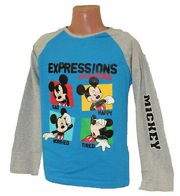 TEE SHIRT manches longues MICKEY 6 ans bleu/gris DISNEY Enfant MICKEY MOUSE