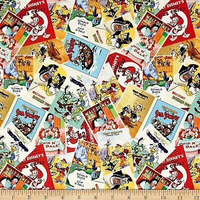 "Donald Duck Disney Posters by Springs Creative 43/"" Cotton Fabric-$6.99//yard"