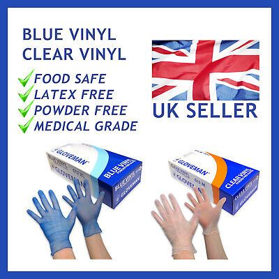 Vinyl Disposable Gloves Strong✔Powder Free✔Latex Free✔ 100,200,300,1000+