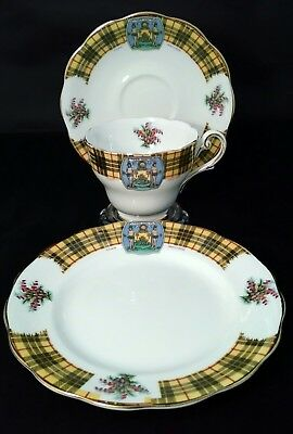 Royal Standard Bonnie Scotland Cup Saucer Plate Trio Macleod Clan