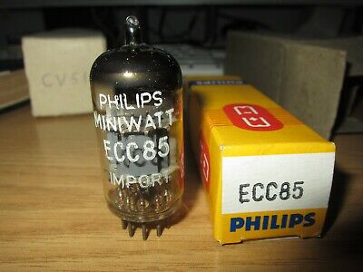 Ecc85 Philips Tube D Foil Getter Tu1 Code Oldest Version First Edition 6Aq8