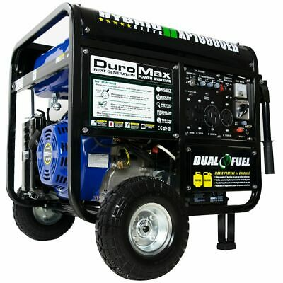 DuroMax 10000-Watt Electric Start Gas/Propane Portable Generator