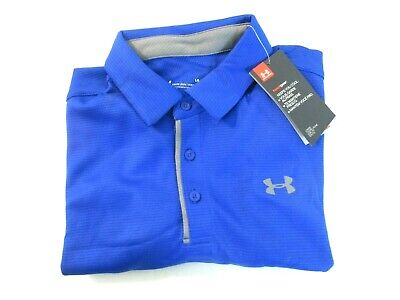 Under Armour Men's Tech Polo Shirt Size Large Tall Royal Graphite 8733 []