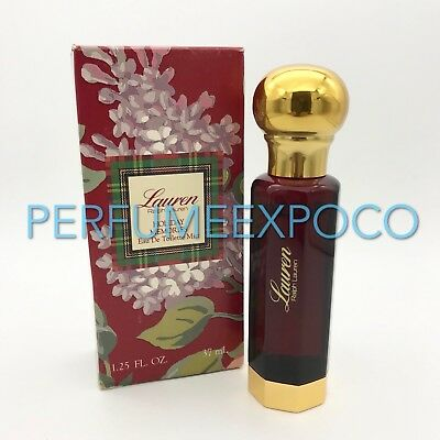 Lauren by RALPH LAUREN 1.25oz-37ml EDT Mist Spray VINTAGE SCENT  *90% FULL*(HD35