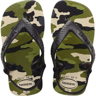 HAVAIANAS BABY FLIP FLOPS CHIC WITH ANKLE STRAP MULTICOLOURED FLORAL SIZES UK1-9