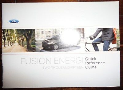 2015 ford fusion energi owners manual