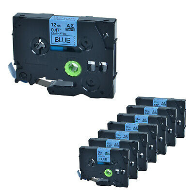 """8PK TZ531 TZe531 Black on Blue Label Tape for Brother P-Touch PT-1700 0.47"""" 12mm"""