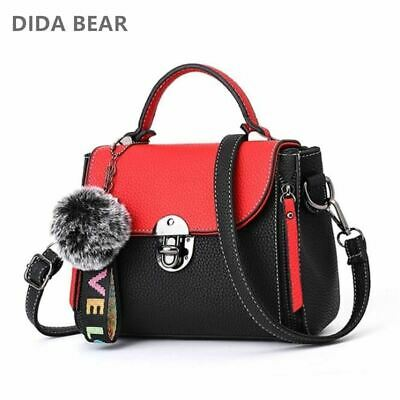 DIDA BEAR Women's Small Leather Handbag Ladies Shoulder Bag for Shopping COLORS