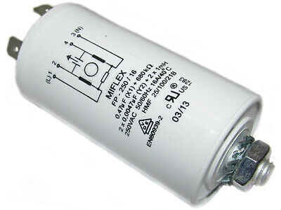 FP-250/16 miflex Filter anti-interference mains 250VAC 1mH Cx0.47uF Cy10nF