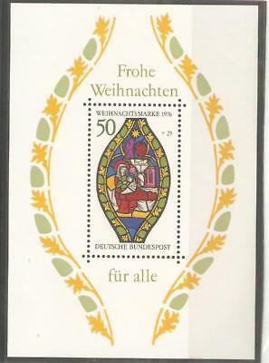 1976   West Germany  -  Sg  Ms 1804  -  Christmas Stained Glass  -  Umm