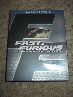 Fast & Furious 7-Movie Collection (Blu-Ray) 1 2 Tokyo Drift