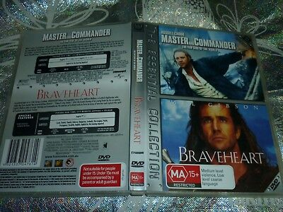 Master And Commander The Far Side Of The World + Braveheart (2 Disc) (Dvd, M)