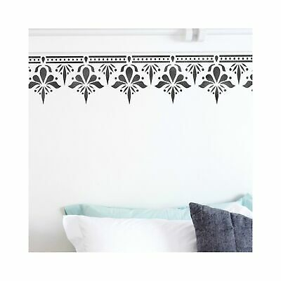 SAGAR Indian Border Furniture Wall Stencil for Painting