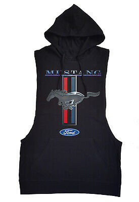 Ford Mustang Black Tank Top Hoodie GT350 500 Shelby Cobra Muscle car fastback
