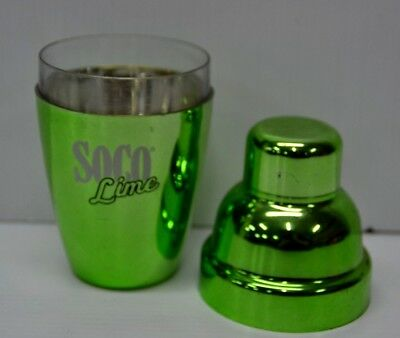 Southern Comfort SOCO Lime Green Mirror Plastic Personal Cocktail Drink Shaker