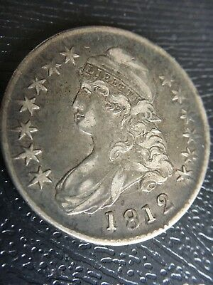 1812 Philadelphia Mint Silver Capped Bust Half Dollar Must See Nice Condition