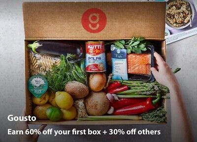 Guosto 60% Your First Box+ 30% Off Others Code (Worth Up To £57)