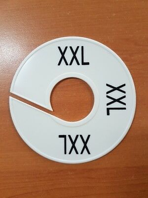 1 pc clothing size marker ring disc. S, M, L  XL, XXL available